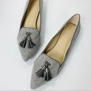 NEW✨Cato Herringbone Pointed Toe Tassel Flat